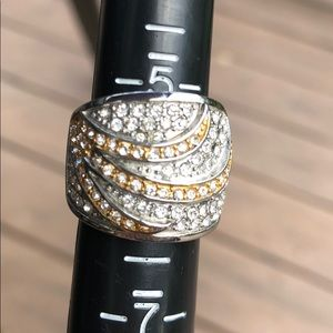 Technibond gold and silver tone ring